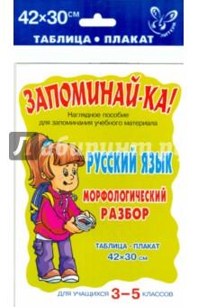 Русский язык. Морфологический разбор. Для 3-5 классов. Плакат