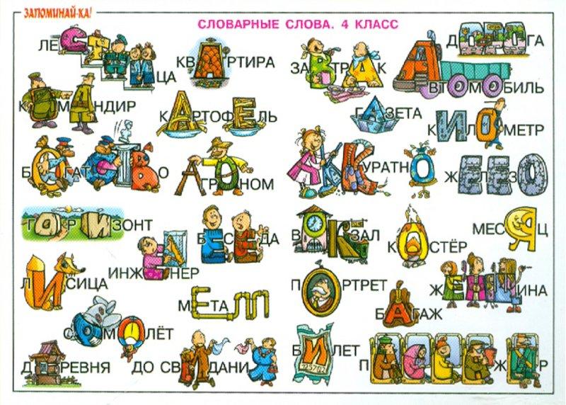 Скачать словарные слова в картинках 4 класс
