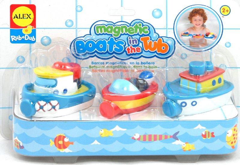 """Иллюстрация 1 из 5 для Игрушки для ванны """"Магнитные лодки"""" 3 штуки на буксире (823W)   Лабиринт - игрушки. Источник: Лабиринт"""