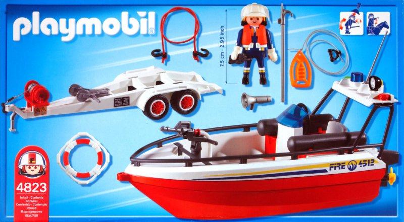 Иллюстрация 1 из 2 для Пожарная лодка с прицепом (4823)   Лабиринт - игрушки. Источник: Лабиринт