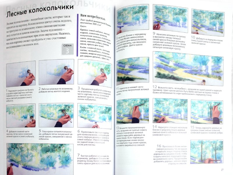 Иллюстрация 1 из 19 для Рисуем по схемам. Пейзажи. Акварель - Терри Харрисон | Лабиринт - книги. Источник: Лабиринт