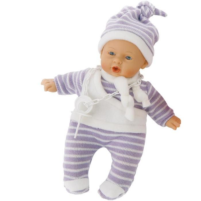 Иллюстрация 1 из 16 для Кукла-младенец Нико в сиреневом, плачет, 26см. (в пакете) (3305с) | Лабиринт - игрушки. Источник: Лабиринт