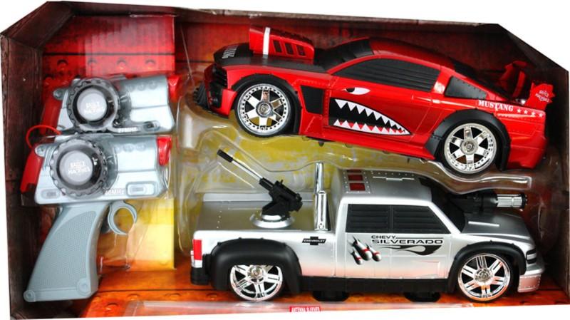 Иллюстрация 1 из 4 для Боевые машины радиоуправляемые Mustang & Camaro (84714) | Лабиринт - игрушки. Источник: Лабиринт