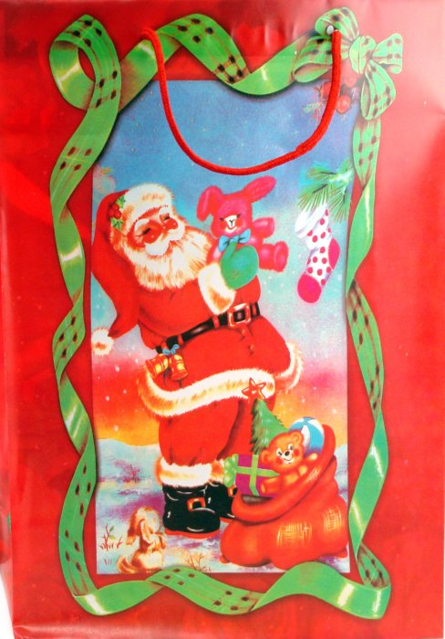 Иллюстрация 1 из 2 для Пакет новогодний пластиковый 40x32x10 (LY070720-1) | Лабиринт - сувениры. Источник: Лабиринт