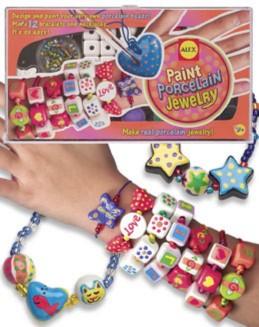 Иллюстрация 1 из 2 для Браслеты и ожерелья из фарфора + краски, кисть (135W) | Лабиринт - игрушки. Источник: Лабиринт