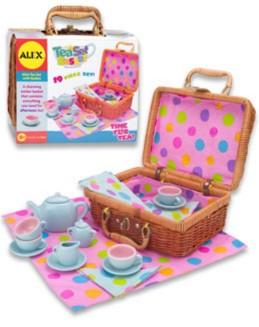 """Иллюстрация 1 из 4 для Чайный сервиз """"Горошек"""" (фарфор в корзине) (709W)   Лабиринт - игрушки. Источник: Лабиринт"""
