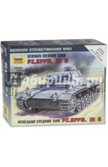 Немецкий средний танк Pz.Kp.fw.III G (6119) танк звезда матильда ii британский средний 1 100 6171