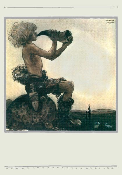Иллюстрация 1 из 22 для Среди эльфов и троллей. Иллюстрации Йона Бауэра. В открытках | Лабиринт - книги. Источник: Лабиринт