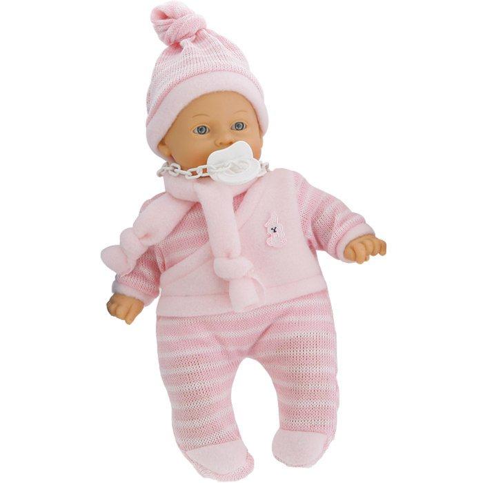 Иллюстрация 1 из 5 для Кукла-младенец Нико в розовом, плачущий, 26см (3305) | Лабиринт - игрушки. Источник: Лабиринт