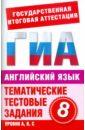 Попова Марина Анатольевна Английский язык. 8 класс. Тематические тестовые задания для подготовки к ГИА