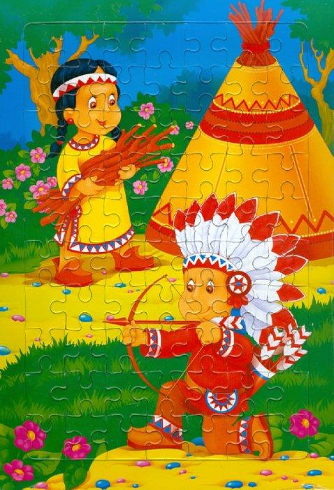 Иллюстрация 1 из 4 для Развивающие рамки. Маленькие индейцы | Лабиринт - игрушки. Источник: Лабиринт