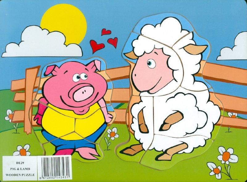Иллюстрация 1 из 6 для Поросенок и овечка (DE29) | Лабиринт - игрушки. Источник: Лабиринт