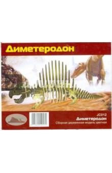 """Сборная деревянная модель """"Диметеродон"""" (цветная) (JC012)"""