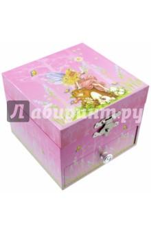 Шкатулка музыкальная Фея на пеньке (20000) музыкальная шкатулка jakos балерина цвет бежевый розовый
