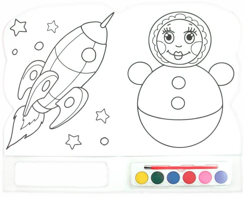 Иллюстрация 1 из 7 для Краски и раскраски. Мишка | Лабиринт - книги. Источник: Лабиринт