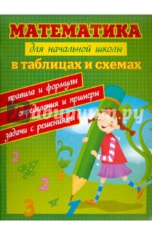 Математика для начальной школы в таблицах и схемах. Правила и формулы, определения и примеры, задачи