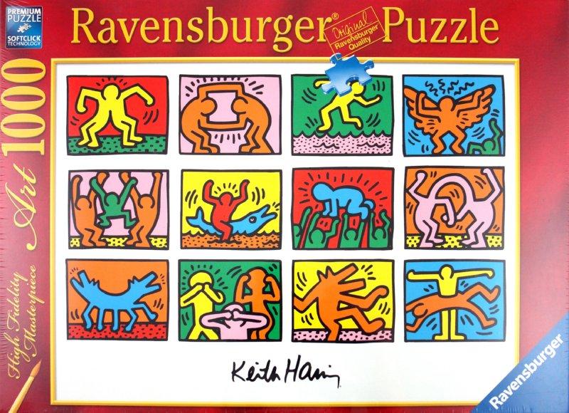 """Иллюстрация 1 из 3 для Паззл """"Кейт Харинг: Ретроспектива"""" 1000 элементов (156153)   Лабиринт - игрушки. Источник: Лабиринт"""
