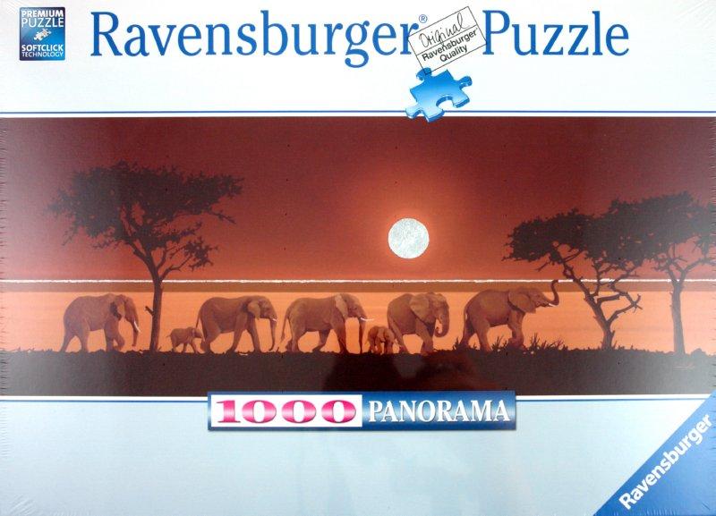 """Иллюстрация 1 из 2 для Паззл-панорама """"Слоны в Сахаре"""" (151103)   Лабиринт - игрушки. Источник: Лабиринт"""