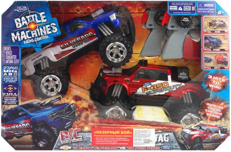 Иллюстрация 1 из 2 для Боевые джипы Ford F-350 & Chevy Silverado 3500, красный \ синий (84045)   Лабиринт - игрушки. Источник: Лабиринт