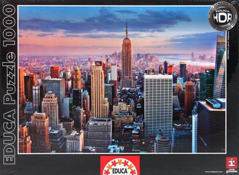 """Иллюстрация 1 из 3 для Пазл-1000 """"Манхеттен, Нью-Йорк"""" (14811)   Лабиринт - игрушки. Источник: Лабиринт"""