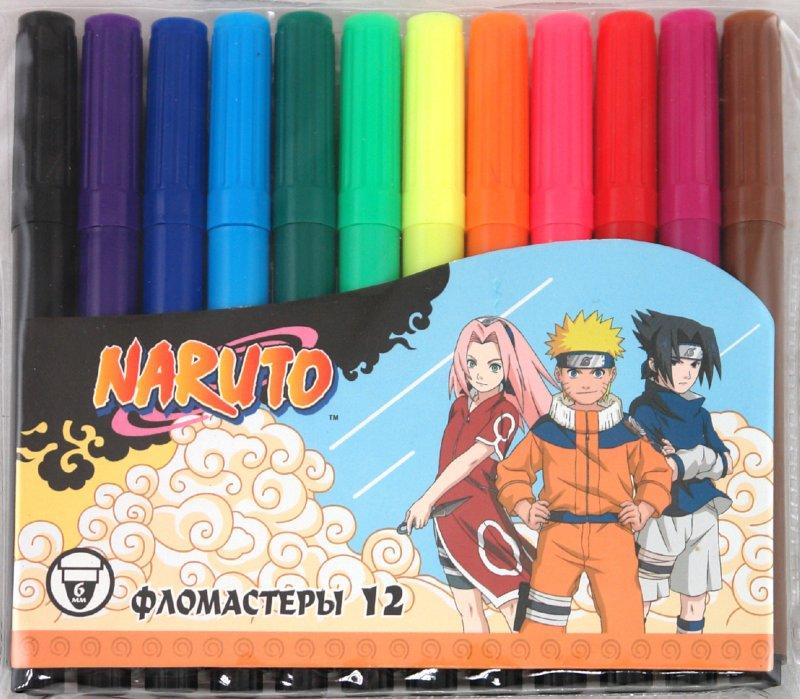 Иллюстрация 1 из 2 для Фломастеры толстые Naruto Jumbo 12 цветов (825-12/N) | Лабиринт - канцтовы. Источник: Лабиринт