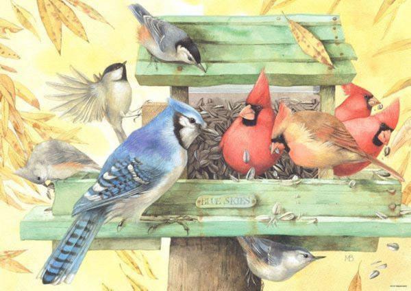 """Иллюстрация 1 из 3 для Puzzle-1000 """"Птицы"""" Bastin (29203)   Лабиринт - игрушки. Источник: Лабиринт"""