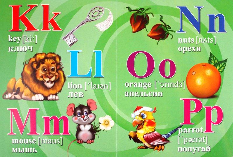Английский алфавит с картинками и транскрипцией картинки