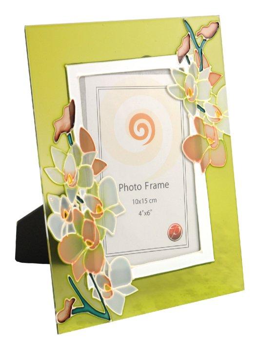 Иллюстрация 1 из 4 для Фоторамка стеклянная расписная 10х15 см (2301) | Лабиринт - сувениры. Источник: Лабиринт
