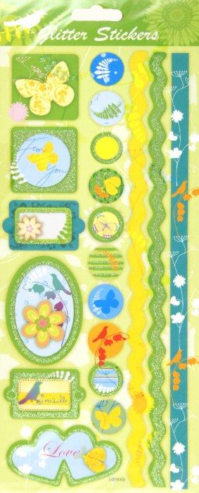 """Иллюстрация 1 из 6 для Наклейки """"Для оформления"""", блестки, ассортимент (S4P006A-B)   Лабиринт - игрушки. Источник: Лабиринт"""