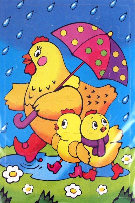 Иллюстрация 1 из 2 для Мягкие пазлы. Курица с цыплятами (2177) | Лабиринт - игрушки. Источник: Лабиринт