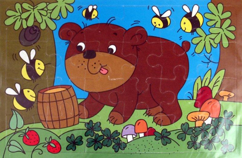 Иллюстрация 1 из 3 для Мягкие пазлы. Медвежонок (2185)   Лабиринт - игрушки. Источник: Лабиринт