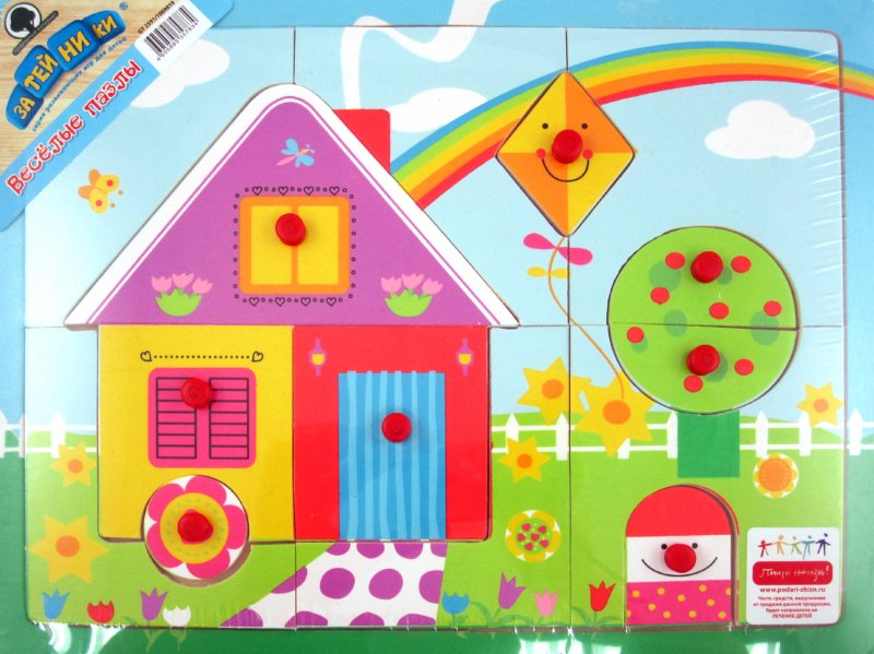 Иллюстрация 1 из 8 для Пазл-дерево Домик 14 деталей (GT2591) | Лабиринт - игрушки. Источник: Лабиринт