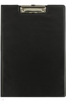 Папка-планшет с прижимом, черная (221488)