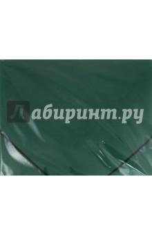 Папка на резинках зеленая (221799) Brauberg