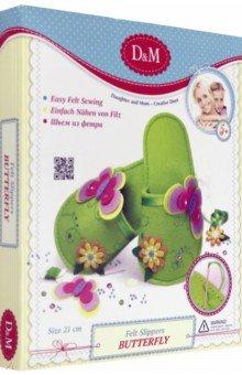 Купить Тапочки Бабочка и цветочек , 21 см (3157), Премьер-игрушка, Шитье, вязание