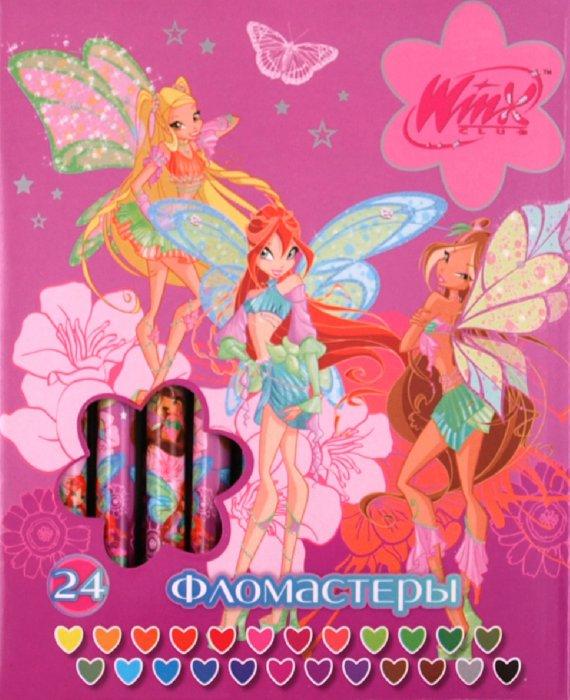 """Иллюстрация 1 из 6 для Фломастеры легкосмываемые 24 цвета """"Winx"""" (888PP24/WS)   Лабиринт - канцтовы. Источник: Лабиринт"""