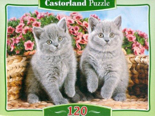 Иллюстрация 1 из 2 для Puzzle-120. MIDI Серые котята (В-12565) | Лабиринт - игрушки. Источник: Лабиринт