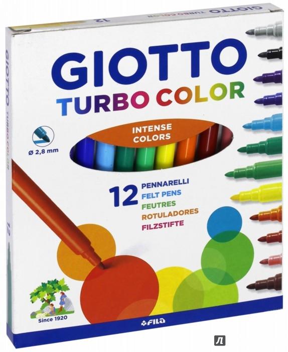 Иллюстрация 1 из 6 для Фломастеры  TURBO COLOR 12 цветов (416000)   Лабиринт - канцтовы. Источник: Лабиринт