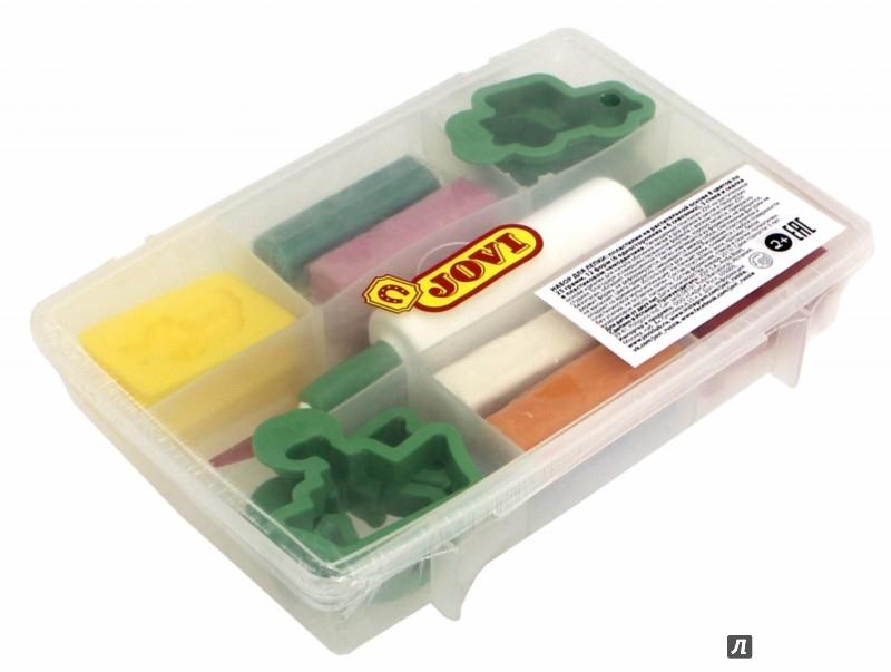 Иллюстрация 1 из 4 для Набор для лепки: пластилин,6 форм, 6 односторонних форм, 3 стека (230) | Лабиринт - игрушки. Источник: Лабиринт