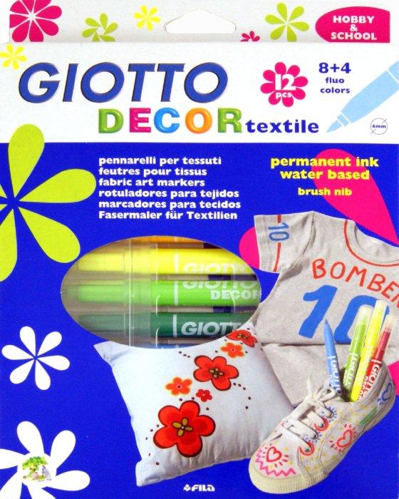 Иллюстрация 1 из 10 для Фломастеры для декорирования  текстиля: 12 цветов (494900)   Лабиринт - игрушки. Источник: Лабиринт