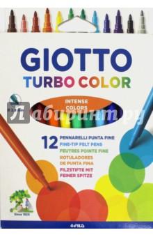 "Набор фломастеров ""Giotto Turbo color"". 12 цветов  (071400)"