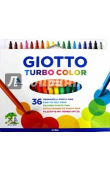 Фломастеры  TURBO COLOR 36 цвета (071600) тонкие фломастеры