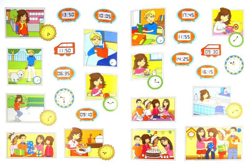 Иллюстрация 1 из 6 для Учусь определять время (с наклейками). Для детей от 6 лет | Лабиринт - книги. Источник: Лабиринт