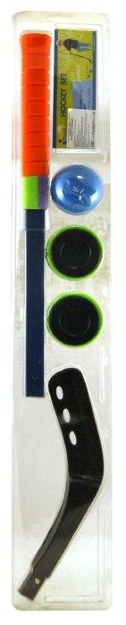 Иллюстрация 1 из 2 для Клюшка хоккейная сборная + 2 шайбы + мяч (HK-50-01C)   Лабиринт - игрушки. Источник: Лабиринт