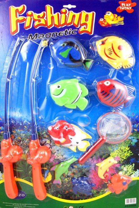 Иллюстрация 1 из 3 для Рыбалка магнитная с 2 удочками и 9 рыбами (PT-00029) | Лабиринт - игрушки. Источник: Лабиринт