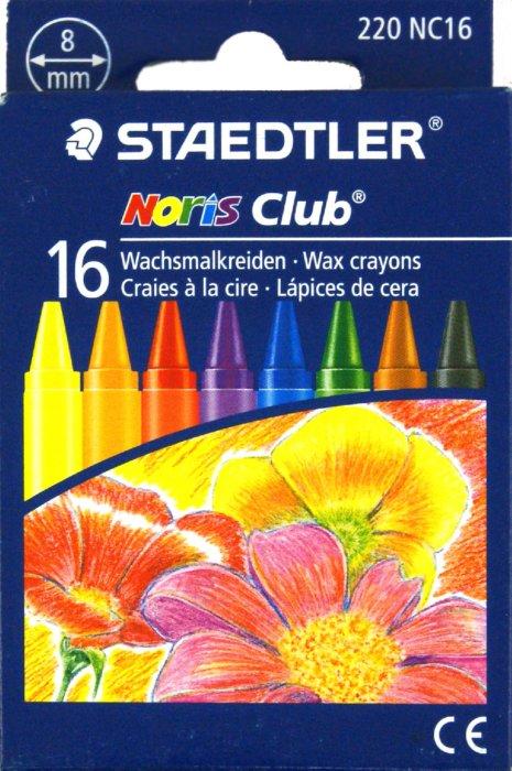 Иллюстрация 1 из 4 для Мелки восковые круглые 16 цветов (220 NC16 Noris Club 220) | Лабиринт - канцтовы. Источник: Лабиринт