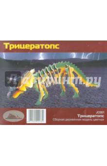 """Сборная деревянная модель """"Трицератопс"""" (JC001)"""
