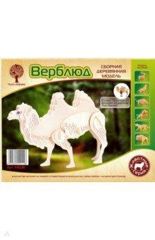 Купить Верблюд (M036), ВГА, Сборные 3D модели из дерева неокрашенные мини