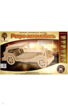 """Сборная деревянная модель """"Ретро автомобиль"""" (P016)"""