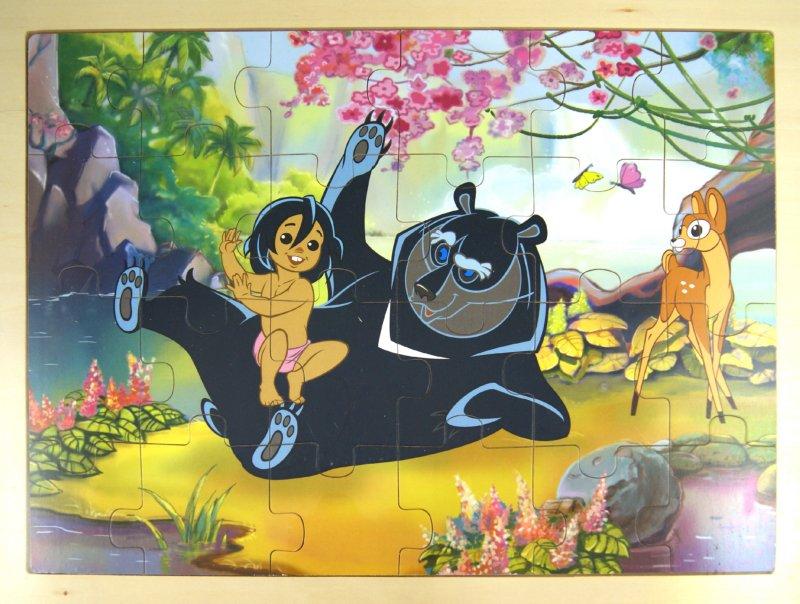 """Иллюстрация 1 из 7 для Пазл в рамке """"Маугли"""" (24 детали) (7048 M)   Лабиринт - игрушки. Источник: Лабиринт"""